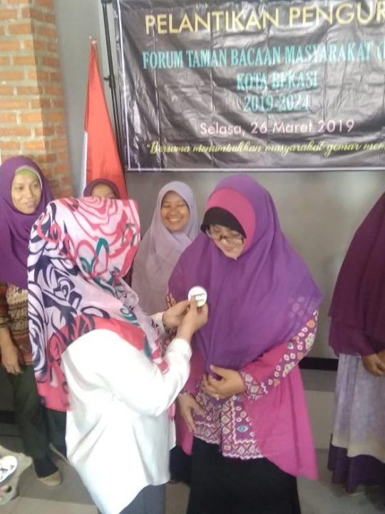 Pelantikan Forum TBM Kota Bekasi